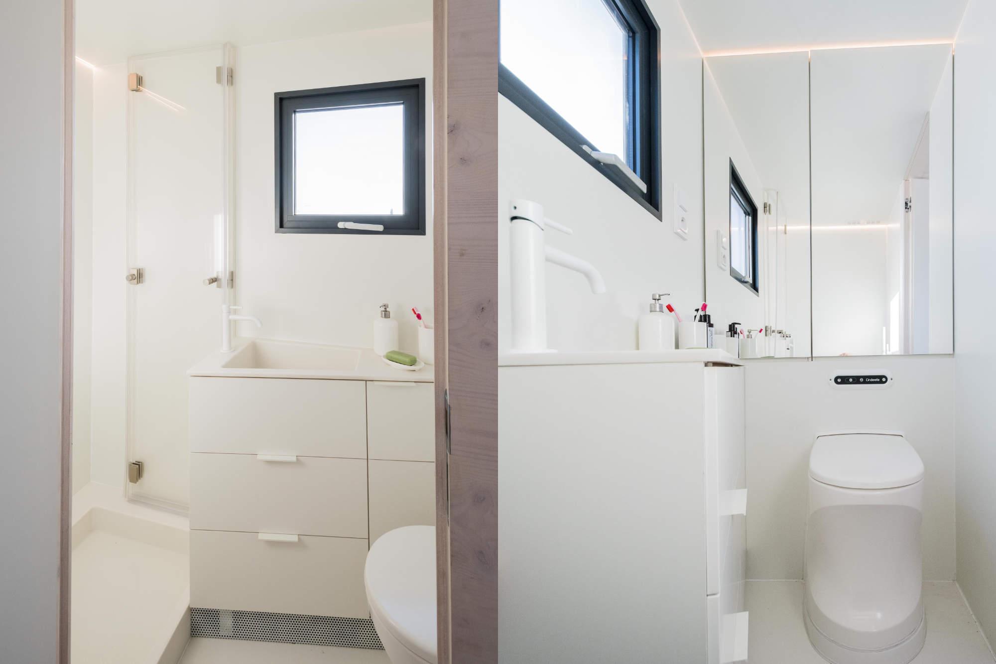 Mobile Hut koupelna